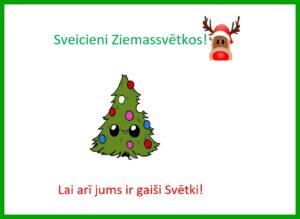 Mūsu Ziemassvētku apsveikumi